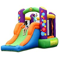 Happy Hop Party Combo Bouncer with Slide - 11.5ft Bouncy Castle