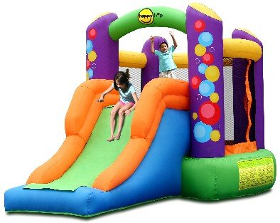 Happy Hop Party Combo Bouncer with Slide - 11.5ft Bouncy