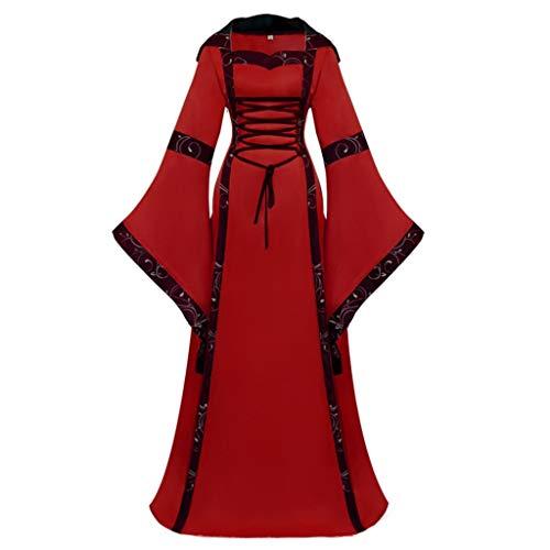 Links Hai Halloween Kostüm - POPLY Frauen Gothic Cosplay Kleid Halloween