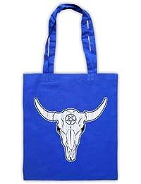 Buffalo Skull Illustration Bolsa de Asas, Azul