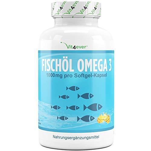 Vit4ever® Fischöl Omega 3-420 Kapseln mit je 1000 mg - Fettsäuren EPA & DHA - Laborgeprüfte Qualität - Hochdosiert - Nachhaltiger Fischfang