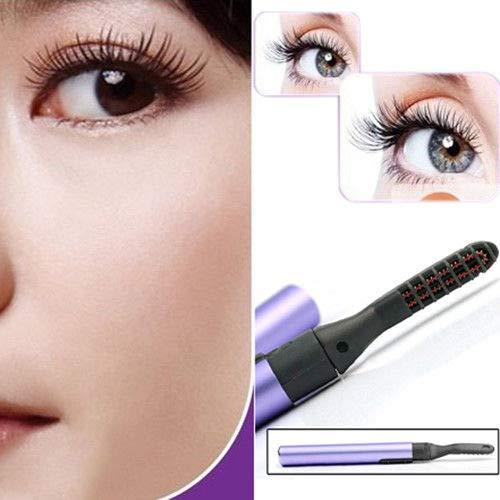 Recourbe-cils électrique, type de stylo portatif Cils électriques de maquillage durant recourbe-cils ( Couleur : Violet )