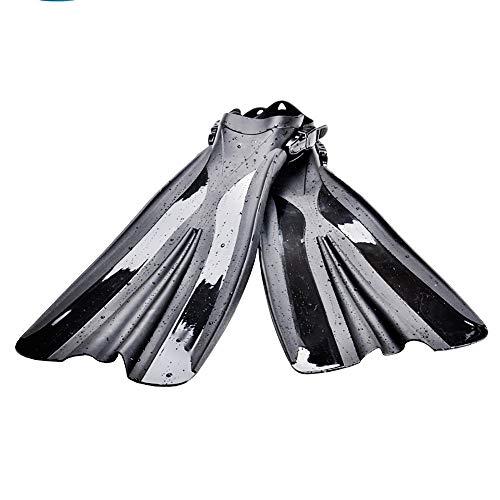 HWHSZ Schnorchelflossen Schnorchelflosse Lange Flossen Tauchen Schnorcheln Freitauchen Erwachsener Tieftauchen AusrüStung Verstellbarer Gurt,S -