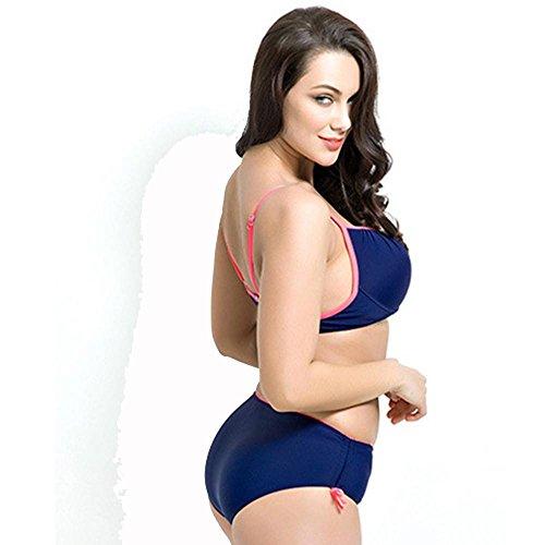 Frauen Plus Größe Bikini drücken schwarz Navy