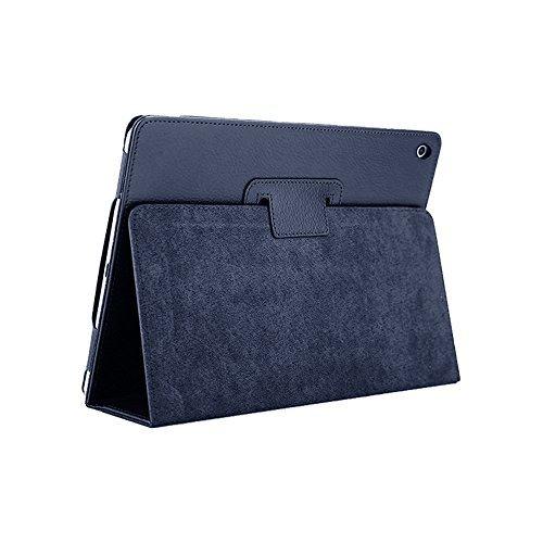 iPad Mini Hülle, FANSONG Bifold Serie Litchi Angelköder Stria Ultra Dünnen Magnetische PU Leder Smart Cover [Stand Funktion, Sleep Funktion] für Apple iPad Mini 1/2/3 Blau Navy