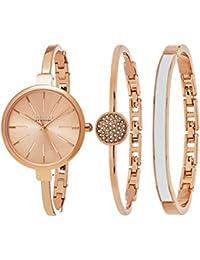 So & Co New York Madison de la mujer analógica Display Japenese correa de Dial de reloj de cuarzo con una rosa, rosa–5297. Set. 3