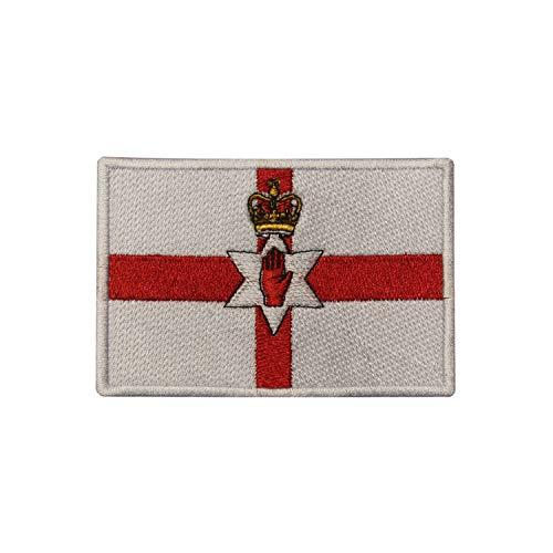 Parche bordado bandera Irlanda Norte coser planchar