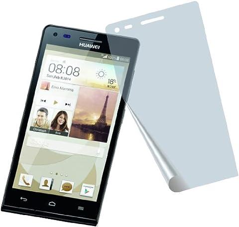 4x Huawei Ascend P7 Mini G6 4G ENTSPIEGELNDE PREMIUM Displayschutzfolie