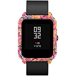 Bestow Xiaomi Huami Amazfit Bip Reloj para j¨®venes patr¨®n Funda de Piel para PC Proteger Shell Edici¨®n Juvenil Reloj Concha Protectora D