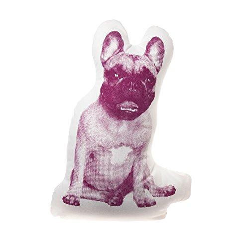 Kissen Fauna mini French Bulldog maroon