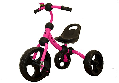 Price comparison product image LittleBambino Little Bambino Tricycle For Children Toddler Age 2-6 Years Old Outdoor 3 Wheeler Pedal Ride On Trike With Bell / Quick Assembly / Adjustable Seat / Pink