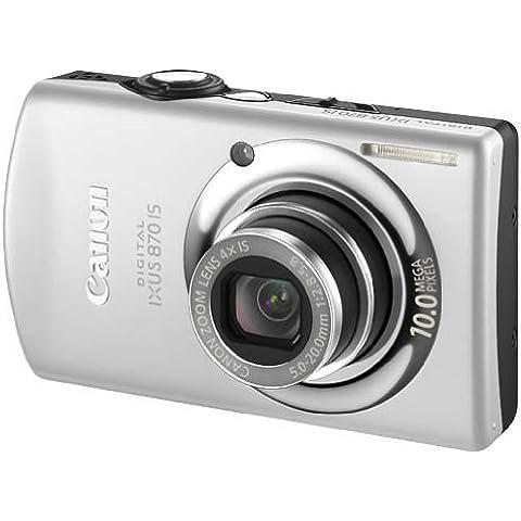 Canon Digital Ixus 870 Is - Fotocamera Digitale - Compatta - 10.0 Mpix - Zoom Ottico: 4 X - Memoria Supportata: Mmc, Sd, Scheda Di Memoria Sdhc, Mmcplus - Argento