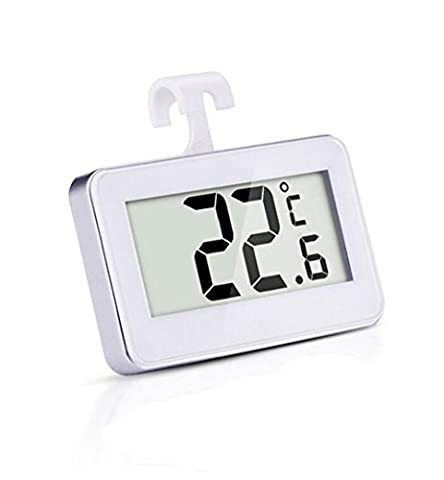 Refrigerator Thermometer, Carryme Waterproof Digital Wireless Fridge Freezer Thermometer Indoor Temperature Monitor With Hook Easy to Read LCD Display and Max/Min Function from -20 to 60 Degree (-4 to 140 Fahrenheit),Perfect for Home Restaurants Bars Cafes,