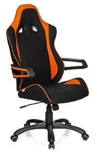 hjh office 621842 gaming stuhl b rostuhl racer pro ii stoff schwarz orange k che. Black Bedroom Furniture Sets. Home Design Ideas