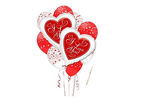 Irpot - bouquet palloncini cuore i love you - red hot love san valentino wedding party