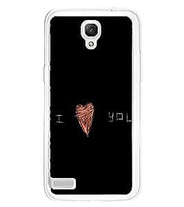 I Love You 2D Hard Polycarbonate Designer Back Case Cover for Xiaomi Redmi Note :: Xiaomi Redmi Note 4G