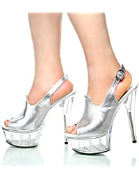 GTVERNH-Sommer Sexy Transparent Kristall - Schuhe 15Cm Super - Ferse Ferse Gut Sandalen