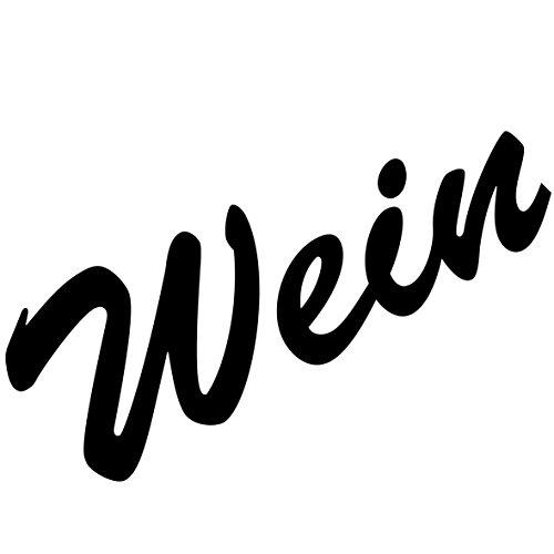 Schriftzug Wein 18cm Aufkleber Tattoo Wandtattoo Fenster Möbel Theke Bar Deko Folie (schwarz)