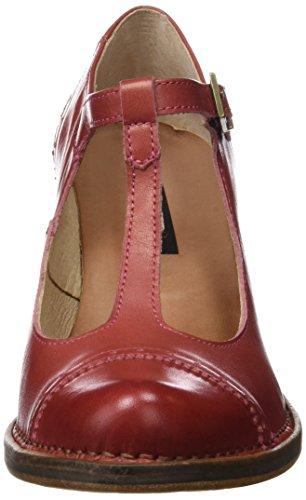 Neosens Damen S849 Restored Skin Geranium Rococo Schuhe mit Vertikalen Streifen Rot (Geranium)