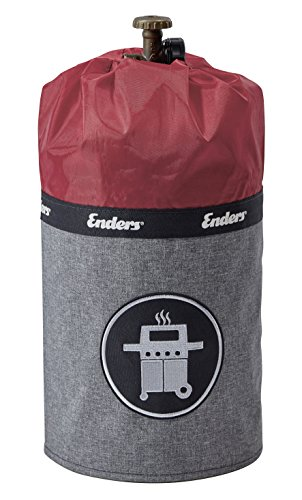 Enders Gasflaschenhülle Style Red 5114, Gasflasche Grill-Abdeckung 5 kg, Keine Rostränder durch Silikonfüße, feuerfest, UV-Schutz