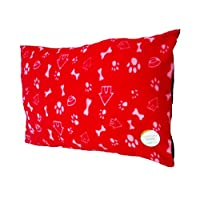 Trading Innovation Fleece Removable Cover Puppy Pets Dog Cat Bed Cushion Pillow Mat Large Deluxe (Red)