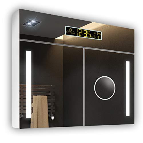 Armario Baño Espejo Iluminado LED 66 x 72 x 17 cm