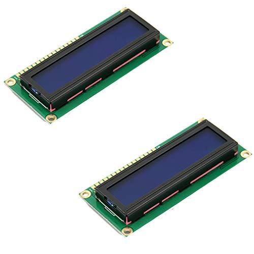 HiLetgo HD44780 1602 - Modulo adattatore per display LCD, 16 x 2, retroilluminazione blu, per Arduino UNO R3 MEGA2560 Nano Due, Raspberry Pi (confezione da 2)