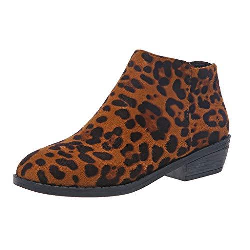 Damen Stiefeletten Kurz Stiefel Dicker Absatz Sexy Spitze Snakeskin Stiefel Party Nachtclub Niedrig Boots Mode Damenschuhe mit Reißverschluss