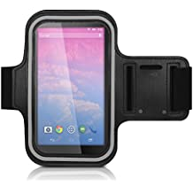 kwmobile Bracelet de sport pour LG Google Nexus 5 - jogging footing sac de sport bracelet de fitness avec compartiment pour clés dans le bracelet de sport en noir