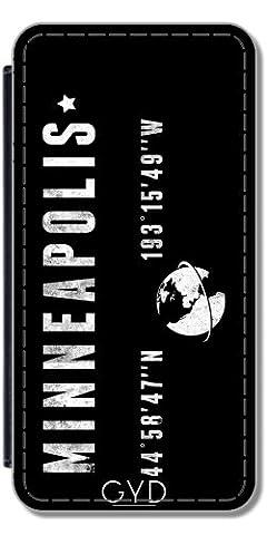 Leder Flip Case Tasche Hülle für Huawei P8 - Minneapolis by les caprices de filles