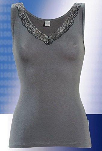 e.FEMME® Damen Hemdchen Lilian 672 mit hochwertiger Spitze aus Lenzing Micromodal, in verschiedenen Farben Weiß