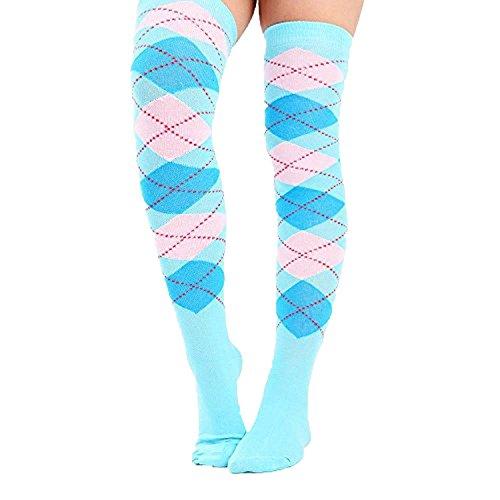 as en coton uni pour Cuisse Haut Sur le Genou Chaussettes sur le genou 28 couleurs Uk Taille 4-6½ ()