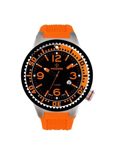 Kienzle K2103013063-00417 - Reloj analógico de cuarzo unisex con correa de silicona, color naranja