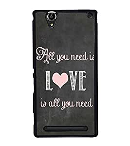 Fuson Designer Back Case Cover for Sony Xperia T2 Ultra :: Sony Xperia T2 Ultra Dual SIM D5322 :: Sony Xperia T2 Ultra XM50h (Caligraphy Font Quote Beauty Beautiful )