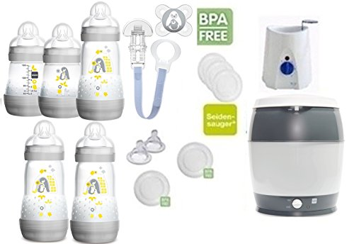 Flaschen Sterilisator Babykoster 20 tlg. Startset Geschenk  *NEU* MAM Set 6