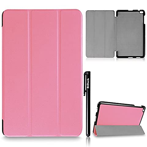 For Huawei MediaPad T2 10.0 Pro Cover, BtDuck Simple And Luxurious Leather Case Business Style Shell Gray lining Flip Folio Book Style Version with Built-in Stand Holder and Front / Back Protection Ultra Slim Lightweight Case Stable Triangular Structure ( Color : Pink