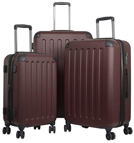 TRAVELWOLF Reisekoffer Deluxe 2.0 Gepäckset mit 3 Hartschalen-Koffer, Trolley mit TSA-Schloß, Zwillingsrollen, Größen M-L-XL (Kofferset Mit Tsa-schloss)