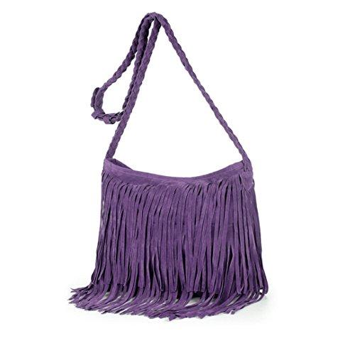 AiSi, Borsa a tracolla donna Light Tan taglia unica Purple