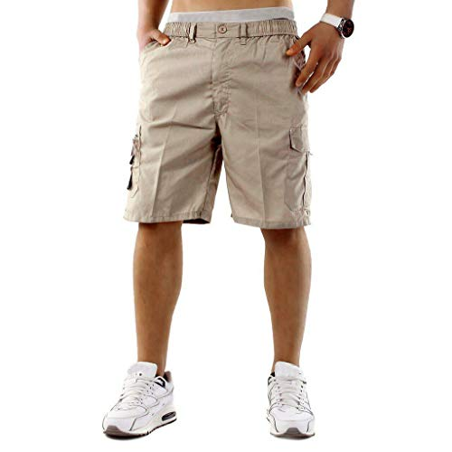 MEIbax Einfache elastische Herren Shorts Kampf Sommerferien Hosen Jogginghose Sporthose Leisure Pants