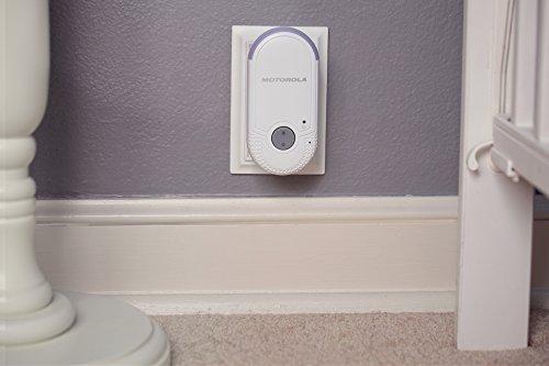 Motorola MBP 8 Babyphone, Digitales Wireless Babyfon, Mit Nachtlicht und DECT-Technologie, Zur Audio-Überwachung, Weiß - 3