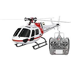 RC Avión Starter Helicóptero RC - Avión XK K123 6CH Escala AS350 Sin Escobillas RC Helicóptero RTF