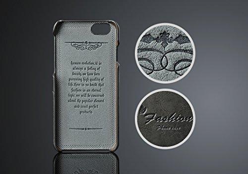 """Phone Case pour Apple iPhone 7Plus 5.5""""Coque avec 2compartiments Carte rigide en cuir synthétique soft touch Housse de protection Cover noir"""