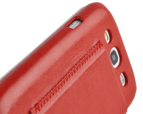JAMMYLIZARD | Luxuriös Flip Ledertasche Hülle für iPhone 5 / 5s und iPhone SE, Rotbraun ROTBRAUN