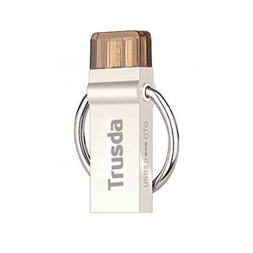 Trusda V90 Pen Drive Dual USB3.0 Micro USB OTG per Android Smartphone 16 Gb, (16 Gb Dual Flash)