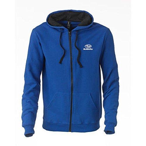 official-subaru-blue-classic-fleece-hooded-zip-up-medium-by-subaru