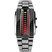 ufengke® fresco creativo LED reloj de pulsera electrónica impermeable,par par de amantes con estilo reloj de pulsera muñeca luminoso,blanco para las mujeres