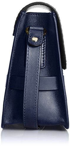 Lili Radu Lili's Shoulder Bag, Borsa a Tracolla Donna Blu  (Midnight Blue/Black)