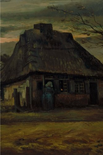 The cottage, Vincent van Gogh: Blank Journal / notebook / composition book, 140 pages, 6 x 9 inch (15.24 x 22.86 cm) Laminated