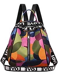 190d7f0c49f30 Sencillo Vida Bolsos Mochila Mujer Bolsos Desigual bolsos fiesta mujer Bolso  de Viaje Forest Casual Backpack