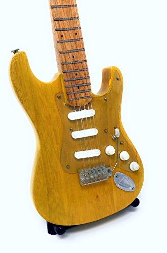 Miniatur Gitarre Deko Gitarre Guitar Fender Stratocaster 24 cm natur #145